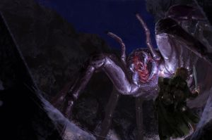 Sam vs. Shelob by RafaMaciel