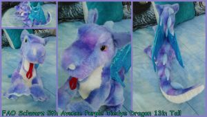 Fao Schwarz 5th Avenue tiedye dragon 13in tall by Vesperwolfy87