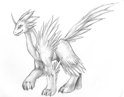 mythical creature by windbladeicepuppy