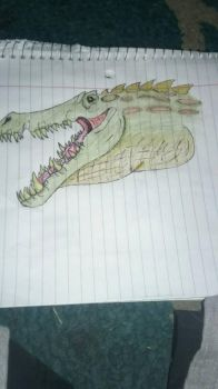 Unspecified Prehistoric crocodile  by JacoBaryonyx