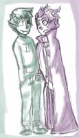 Eridan and Sollux sketch by FluffySora