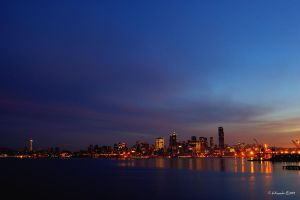 Seattle Skyline from Alki 01 by UrbanRural-Photo