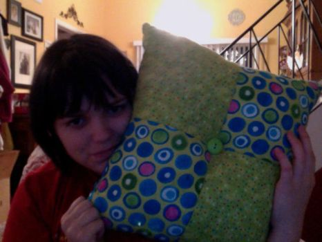 Green and blue pillow by CaptainRei
