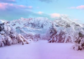 Winter Landscape Challenge Stock by Aseamlessbonds