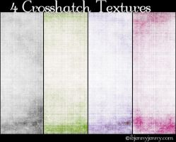 4 Free Crosshatch Textures by ibjennyjenny