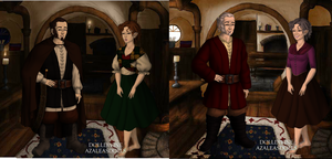 The Hobbit:now and then  gender bent by art-is-my-bream