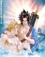 Zack y Cloud by ismaelalvarez