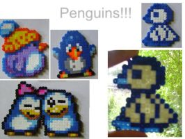 HAMA bead penguin set by HareTrinity