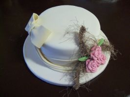 White hat cake by see-through-silence