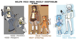 Pokemon BEAR FAMILY Adoptables [Closed] by azume-adopts