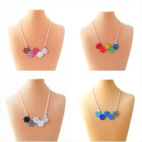 Simple Colorful Molecule Necklaces by Natalie526