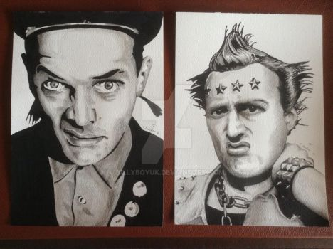 Rik and Ade vyvian the young ones art by billyboyuk