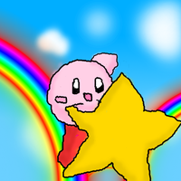 Kirby on a star by Pixel-777