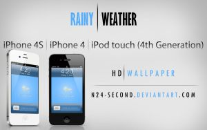 Rainy Weather wallpaper for iPhone 4 by n24-second