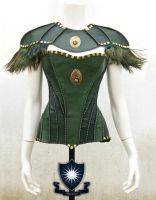 Tauriel Leather Corset with Shoulder Pad by LipCreativeStudio
