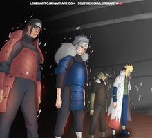 The Four Hokage by LordSarito