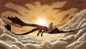 Daenerys and Drogon by ClaireLyxa