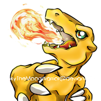 Agumon badge FINAL-thanks for voting! by Fly-Sky-High