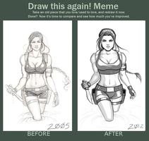 Draw this again meme by Holly-the-Laing