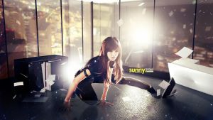 SNSD Dark Sunny Wallpaper by UberzErO