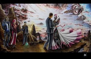 wedding on Rannoch by ClarkVador