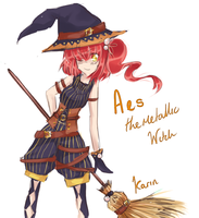 I also drew another witch by watermelon-clock