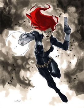 NYCC 2011 Black Widow by MahmudAsrar