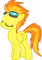 Spitfire with closed eyes (suitless version) by BaumkuchenPony