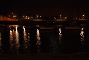 Night Ocean 3 by Rhiallom