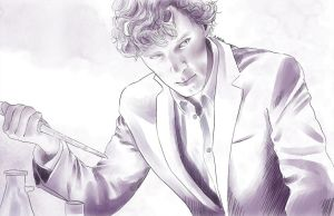 Sherlock in his lab by AzurLazuly