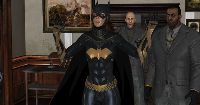 Batgirl captured by Black Masks Thugs (4) by integfred
