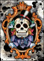 Mr. Calaca Sugar Skull by Pompelina