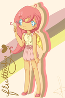 CHIBI FLUTTERSHY HUEHUEHUE by PuyoPopLover