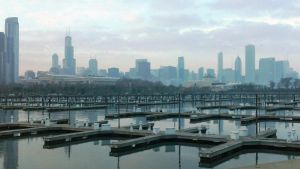 Chicago at dusk by Rapid-Star