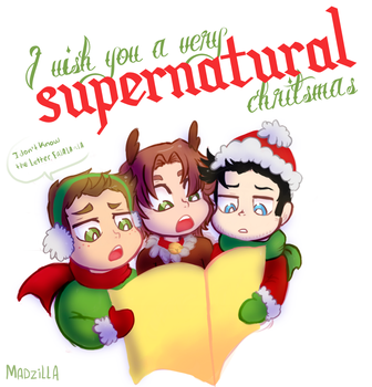 supernatural xmas by Naomi-shan