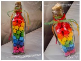 Lucky Paper Star Bottle 1 by Maca37