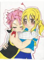Nastu and Lucy of Fairy Tail by itsnan