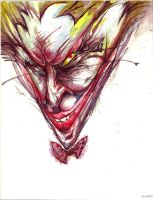 Joker watercoler by JamesBousema