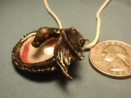 Black Dragon Pendant by piperpolymer