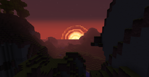 Beautiful Minecraft Sunrise by supermonkey1313