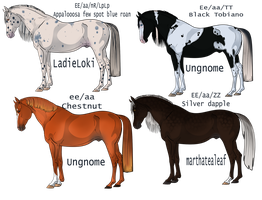 Horse designs 5 points each by EdithSparrow