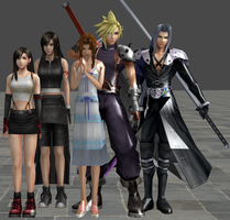 xnalara final fantasy 7 models by twinlightownz