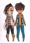 Delsin and Oreias: Holding Hands by cheese-cake-panda