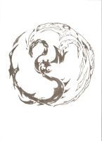 Dragon +  Phoenix Yin Yang by basilisk113