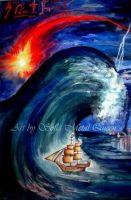 The tidal wave, powerful destroyer by SOFIAMETALQUEEN