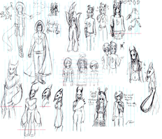 Sketch Dump from Term 1 English by Winged-Seahorse