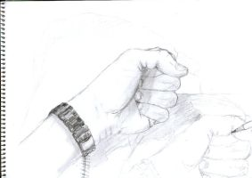 My hand is painting my hand by henkrygg