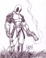 Deadpool on the Hunt by DW-DeathWisH