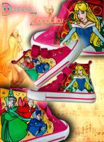 Sleeping Beauty Shoes by Raw-J