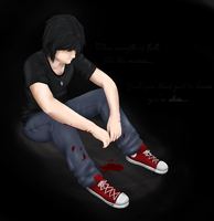'Yeah you bleed just to know you're alive...' by SkyLandWarrior